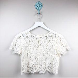 Jenny Yoo Lace Crop Top NWOT Size XS